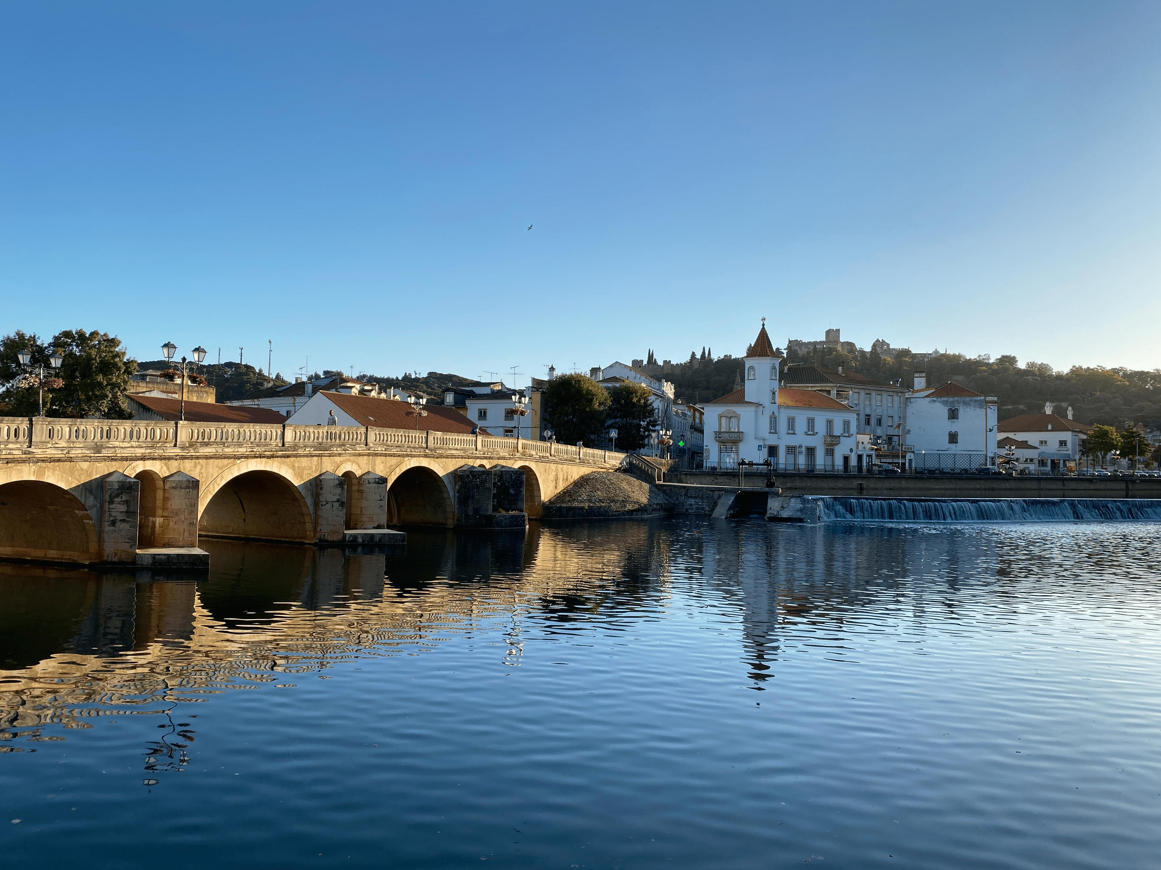 Vista para a cidade de Tomar e para o convento de cristo. View to Tomar's city and the convent of christ